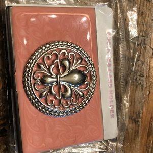 Fleur de lis Business card holder